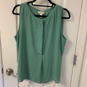 LOFT Outlet Button Front Sleeveless Top